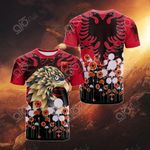 Albania Coat Of Arms Independence Day All Over Print T-shirt