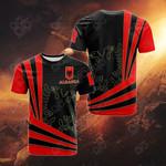 Albania Flag 3D All Over Print T-shirt