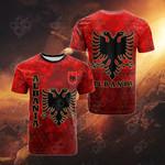 Albania Polygon All Over Print T-shirt