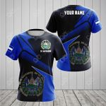 Customize El Salvador Proud With Coat Of Arms All Over Print T-shirt