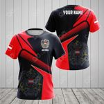 Customize Austria Proud With Coat Of Arms All Over Print T-shirt
