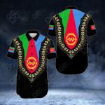Eritrea Dashiki Short Sleeve Linen Button Down Shirt