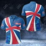 Iceland Coat Of Arms Flag Map All Over Print Polo Shirt