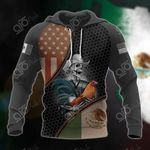Mexico 3D Hexagon Pattern All Over Print Hoodies