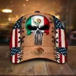 Mexico Coat Of Arms Skull 3D All Over Print Cap