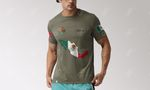 Mexico Coat Of Arms And Map T-shirt