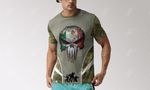 Mexico Skull Camo Coat Of Arms 3D All Over Print T-shirt