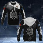 Moldova Coat Of Arms White - Flag All Over Print Hoodies