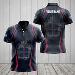 Customize Iceland Coat Of Arms Print 3D Special All Over Print Polo Shirt