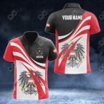 Customize Austria Flag Color 3D All Over Print Polo Shirt
