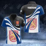 Customize Finland Flag Color 3D All Over Print Polo Shirt
