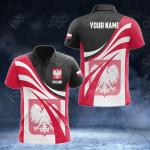 Customize Poland Flag Color 3D All Over Print Polo Shirt
