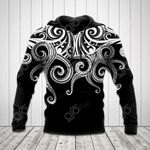 Polynesian Octopus Tattoo All Over Print Hoodies