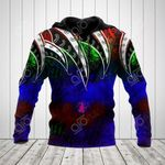 Polynesian Tattoo Color All Over Print Hoodies