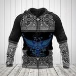 Polynesian Tattoo Whale Tail All Over Print Hoodies