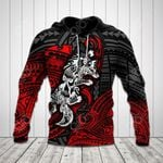 Polynesian Wolf Pattern All Over Print Hoodies