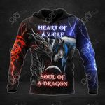 Heart Of A Wolf Soul Of A Dragon 3D All Over Print Hoodies