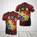 Tonga Coat Of Arms And Map All Over Print T-shirt