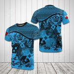 Tonga Coat Of Arms Blue All Over Print T-shirt