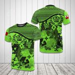 Tonga Coat Of Arms Green All Over Print T-shirt