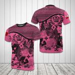 Tonga Coat Of Arms Pink All Over Print T-shirt