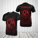 Tonga Coat Of Arms Polynesian Tribal Pattern All Over Print T-shirt