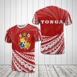 Tonga Polynesian Tornado All Over Print T-shirt