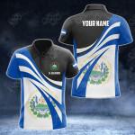 Customize El Salvador Flag Color 3D All Over Print Polo Shirt