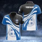 Customize Greece Flag Color 3D All Over Print Polo Shirt