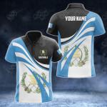 Customize Guatemala Flag Color 3D All Over Print Polo Shirt