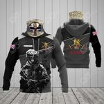 Customize British Army Symbol Soldier All Over Print Neck Gaiter Hoodie