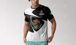 Customize Mexico Coat Of Arms & Flag All Over Print T-shirt