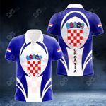 Croatia Coat Of Arms 3D Form All Over Print Polo Shirt