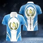 Guatemala Coat Of Arms 3D Form All Over Print Polo Shirt