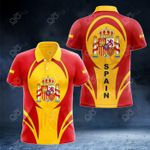 Spain Coat Of Arms 3D Form All Over Print Polo Shirt