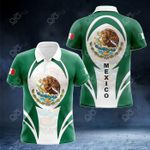 Mexico Coat Of Arms 3D Form All Over Print Polo Shirt