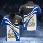 Customize Honduras Flag Color 3D All Over Print Polo Shirt
