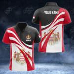 Customize Monaco Flag Color 3D All Over Print Polo Shirt