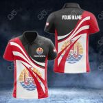 Customize French Polynesia Flag Color 3D All Over Print Polo Shirt