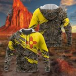 New Mexico Flag Torn 3D All Over Print Hoodies
