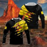 New Mexico Flag Torn 3D Black All Over Print Hoodies