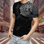 Aztec Mexico 3D Warrior All Over Print T-shirt