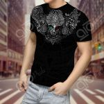 Mexico Warrior 3D Aztec Pattern All Over Print T-shirt
