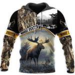 Moose Hunting Camo All Over Print Shirts