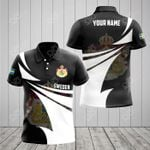 Customize Sweden Coat Of Arms New Style 3D Print All Over Print Polo Shirt