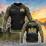 Custom Name Netherlands Coat Of Arms Camo All Over Print Hoodies