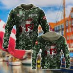 Customize Denmark 3D Camo Helmet Flag All Over Print Hoodies
