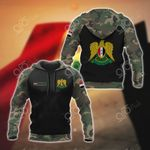 Custom Name Syria Coat Of Arms Camo All Over Print Hoodies