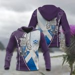 Scotland Thistle Mix Flag All Over Print Hoodies