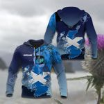 Lion and Map Scotland All Over Print Hoodies